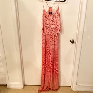 Orange Guess LONG maxi dress-SIZE 10